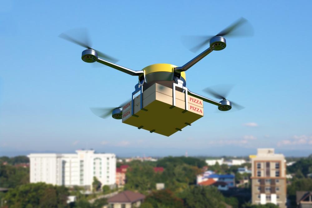 Entrega feita por drone